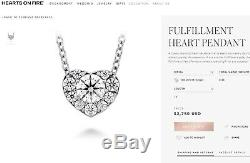 0.45 ct HOF Hearts on Fire 18K Diamond Fulfillment Heart Necklace 16 Rtl $2,750