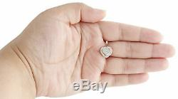 10K Yellow Gold Over Round Cut Diamond Double Frame Heart Pendant Charm 0.70