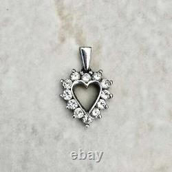 14k White Gold Heart Engagement Promise Pendant Without Chain 2.11 Ct Diamond