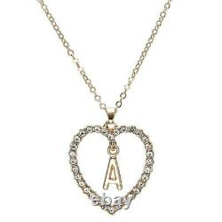 1.00CT Round Cut Diamond A Letter Pendant 14k Yellow Gold Over