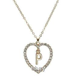 1.00CT Round Cut Diamond P Letter Pendant 14k Yellow Gold Over