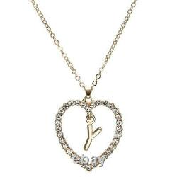 1.00CT Round Cut Diamond Y Letter Pendant 14k Yellow Gold Over