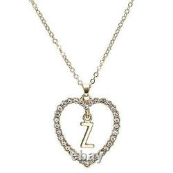1.00CT Round Cut Diamond Z Letter Pendant 14k Yellow Gold Over