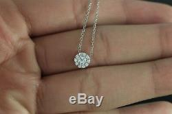 $1,490 Hearts On Fire 18K White Gold 0.25ct Diamond FULFILLMENT Pendant Necklace
