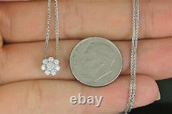 $1,850 Hearts On Fire 18K White Gold 0.20ct Diamond Beloved Pendant 20 Necklace