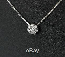 $1,850 Hearts On Fire 18K White Gold 0.20ct Diamond Beloved Pendant Necklace 20