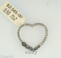 Alexandrite and Diamond Heart Pendant Color Change Green to Purple 14kt Gold