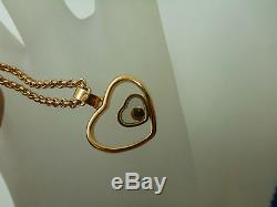CHOPARD HAPPY HEART LADIES ROSE GOLD PENDANT AND CHAIN 797482-5001