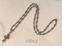 CHROME HEARTS Sterling And Diamond Maltese Cross Pendant Necklace! $9,000