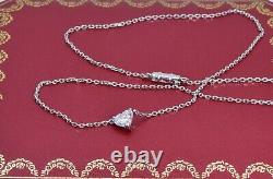 Cartier 1 ct Heart Shaped Single Diamond 18k White Gold Necklace RRP £ 26500