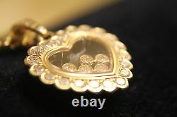 Chopard 18ct Yellow Gold Happy Diamonds Necklace Total 1.16ct 79/4758-20