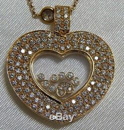 Diamond Heart 18kt Gold Pendant & Necklace with Appraisal
