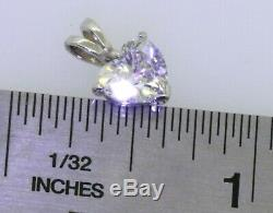 GIA certified 14K WG lovely 1.37CT SI1/D Heart cut diamond solitaire pendant