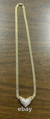 Gorgeous 14KT Yellow Gold Natural Diamond Heart Necklace