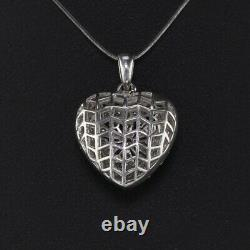 Heart Shape Engagement Pendent Without Chain 14K White Gold 1.80Ct VVS1 Diamond