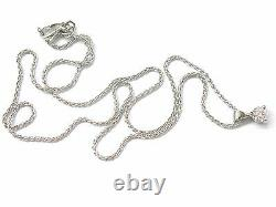 Hearts On Fire Round Diamond Solitaire 3-Prong Pendant Necklace. 33Ct H-VS2 18