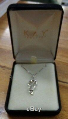 Jane Seymour Sterling Silver Open Heart Angel Wing Diamond Necklace & Pendant