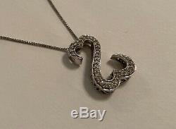 Kay Jewelers 14K White Gold Diamond Jane Seymour Open Heart Pendant Necklace