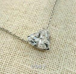 Large and Magnificent 4.50 Carats GIA Heart Diamond Solitaire Pendant in 14K