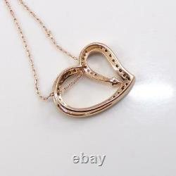 LeVian 14K Rose Gold Heart Chocolate Diamond Shooting Star Necklace 24 LHC3