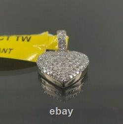 Natural Diamond 0.35 CT Heart Jewelry Pendant in 10 K Yellow Gold