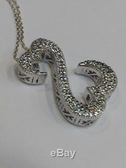 Open Hearts by Jane Seymour 1.10 ct Diamond in Sterling Silver Pendant Necklace