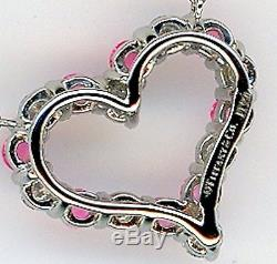TIFFANY AND CO. PINK SAPPHIRE AND DIAMOND HEART PENDANT