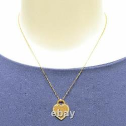 Tiffany & Co. Return to Heart Tag Necklace Rose Gold Diamond