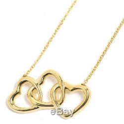 Tiffany & Co. Triple Open Heart Pendant Necklace 18K Yellow Gold 41cm 16.1inch